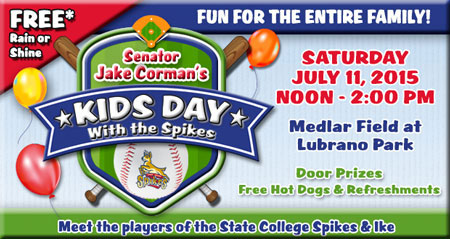 Senator Jake Corman's Kids Day